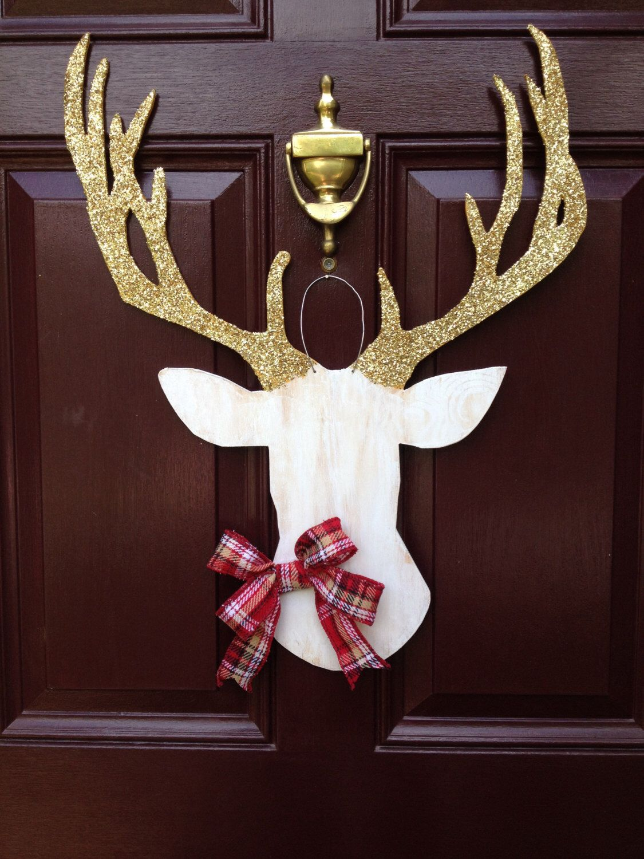 Deer Head Wall Mount Southern Wedding Christmas Wreath Deer