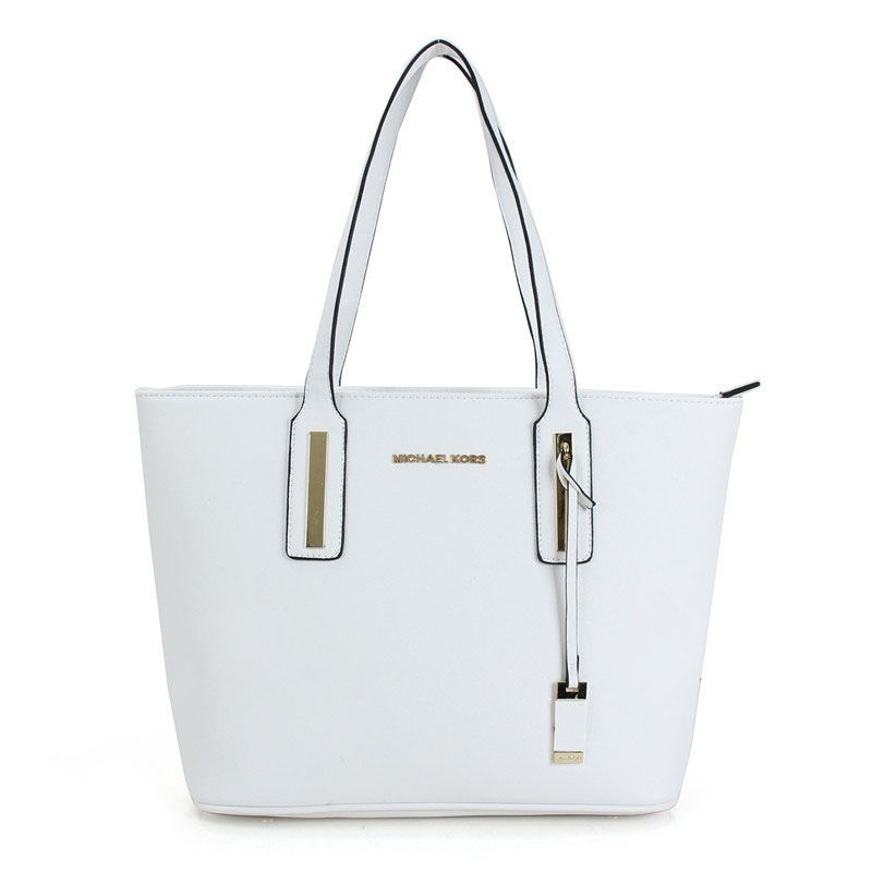 353d1396ac16 MICHAEL KORS JARYN CALF LEATHER LARGE WHITE TOTES   mk bags   Bags ...