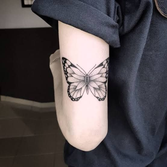 5ef14b4c1 28 Beautiful Black and Grey Butterfly Tattoos | Tattoo | Tattoos ...