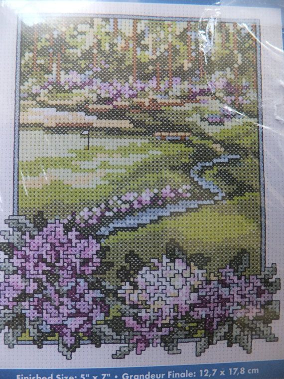 Counted Cross Stitch Kit Flowered Golf Course by jebstreasures, $6.50