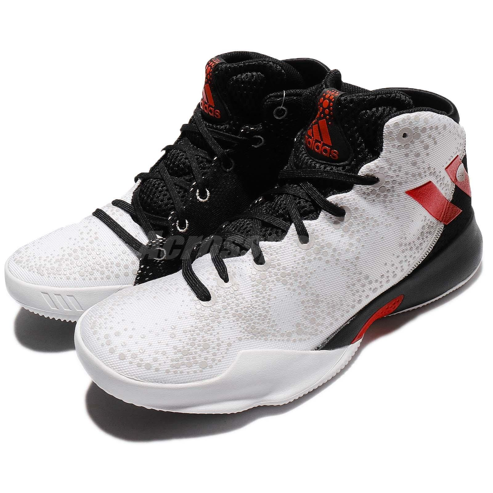 adidas Crazy Heat White Scarlet Black Men Basketball Shoes Sneakers BY4529