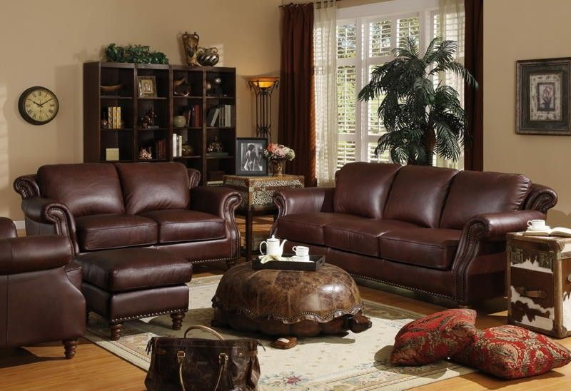Lazzaro All Leather Verona Burgundy Sofa Collection