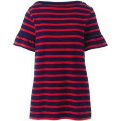 Gestreiftes Shirt mit Volantärmeln in Petite-Größe - Rot - 36-38 von Lands' End Lands' End