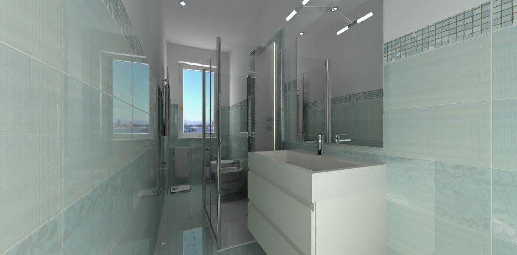 bagno stretto lungo: bagno lungo e stretto con lavatrice. - Bagni Moderni Stretti E Lunghi