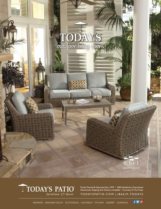 Ebel Laurent Collection Today S Patio Magazine Ad Deep