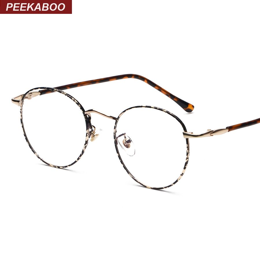 e351a63db25 Retro round metal eyeglass frames optical men women unisex China silver  gold glasses for computer protection uv lunettes vue-in Eyewear Frames from  Men s ...
