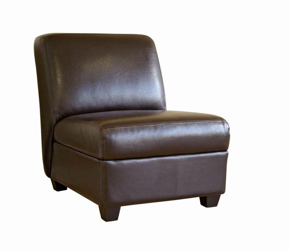 Dark Brown Armless Club Chair Wholesale Interiors Faux