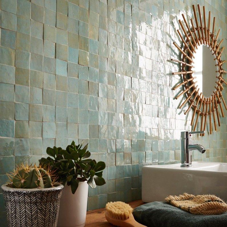 Une Couleur Vert Emeraude Pour Cette Mosaique Decoration Murale
