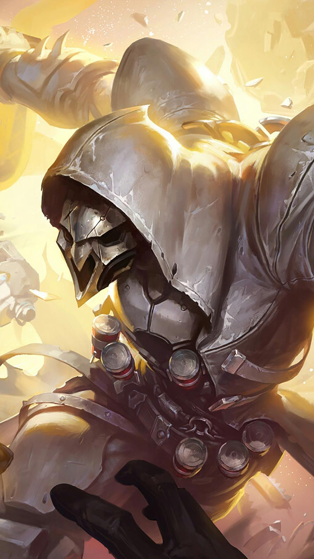Reaper silver android, iphone wallpaper, mobile background
