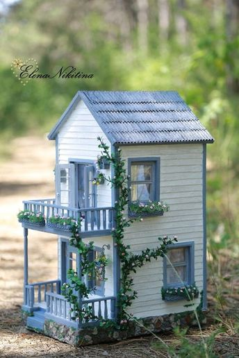 35 So Adorable Popsicle Stick Craft House Designs For Fun Fairy Houses Popsicle Stick Crafts House Miniature Houses