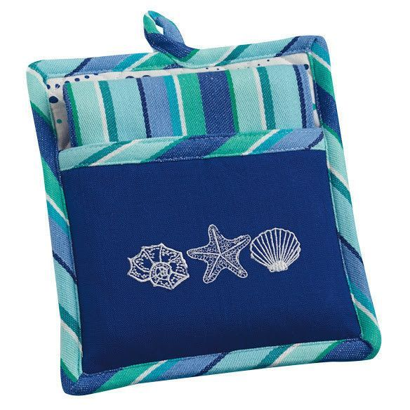 Sea Shells Potholder Gift Set With Images Design Imports Sea
