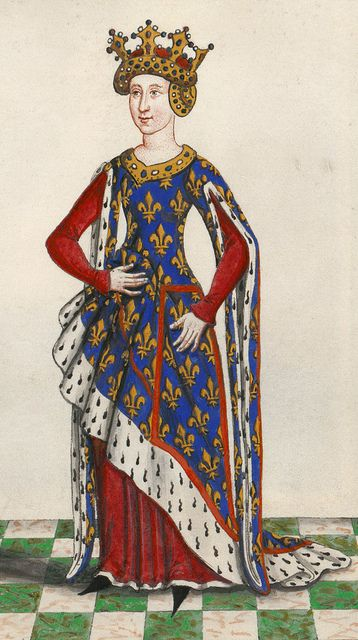 Isabella of Valois, Duchess of Bourbon or Isabella of France – 26 July was a Petit Fille of France, and a daughter of Charles of Valois by his third wife Mahaut of Châtillon. She was the wife of Peter I, Duke of Bourbon. Renaissance Costume, Medieval Costume, Medieval Dress, Medieval World, Medieval Art, Medieval Fashion, Medieval Clothing, Historical Costume, Historical Clothing