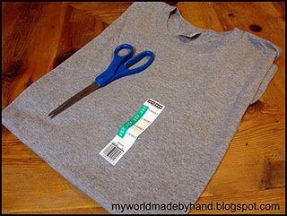 DIY infinity scarf - no sew, takes 2 minutes.