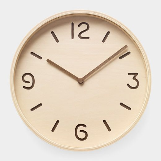 plywood clock ++ yuichi nara
