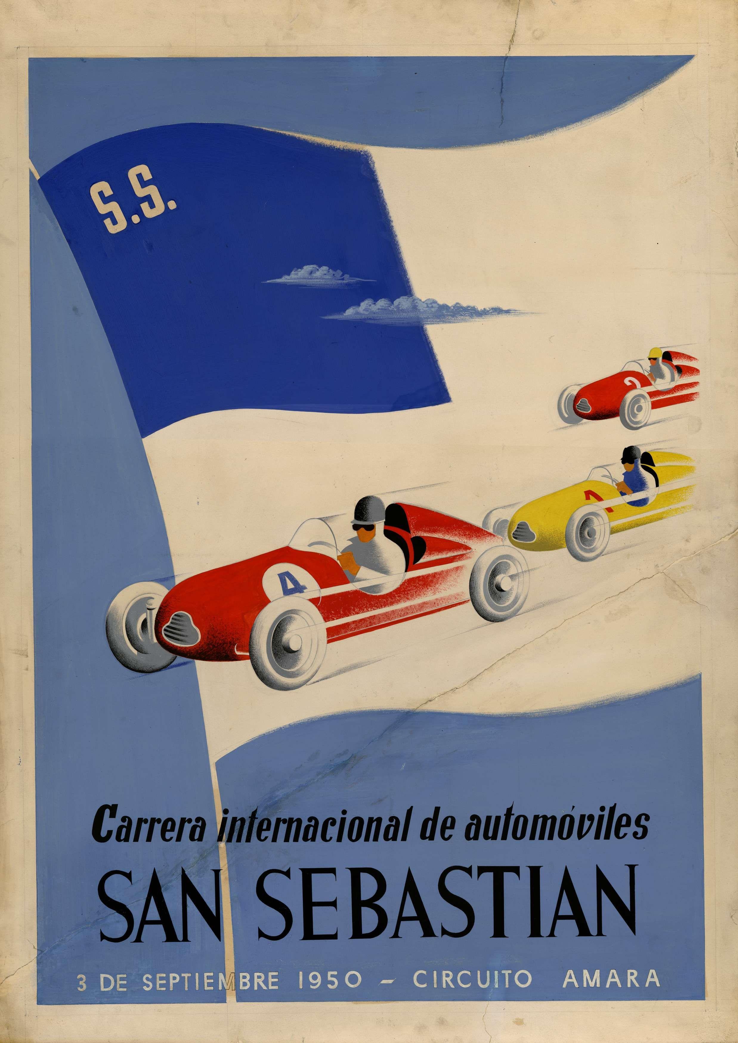 San Sebastian Spain 1950 Carreras San Sebastian Circuito