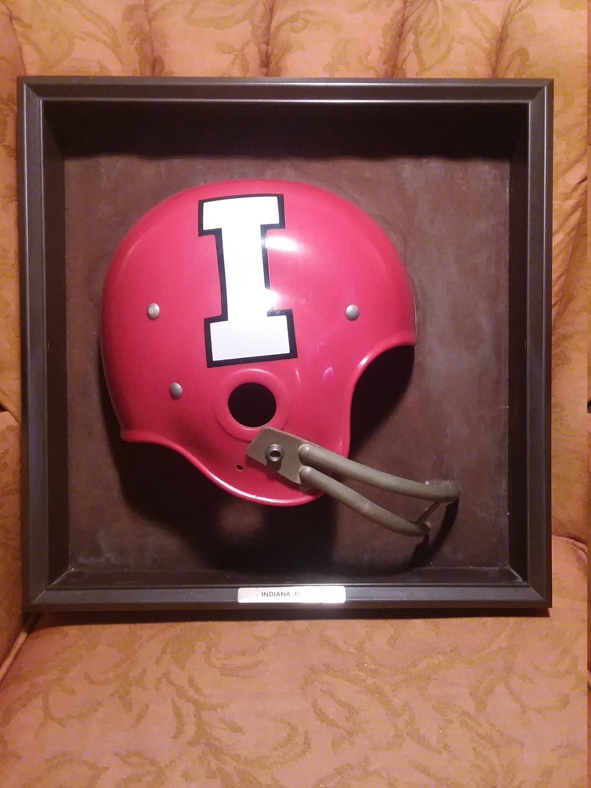 huge discount f900f 81061 70 s 80 s Indiana Hoosiers Football Helmet wall hanging  plaque office lawyer shop University IU basketball Bob Knight Lee  Corso prop NCAA by finleysvintage ...