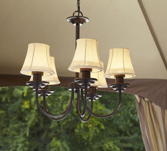 Chandelier Outdoor Lighting: Garden Oasis Electric Chandelier For Gazebo