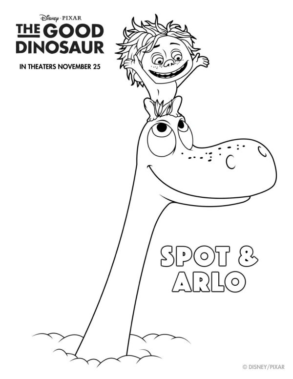 Disney The Good Dinosaur Free Printable Spot \ Arlo Coloring Page - new zootopia coloring pages free