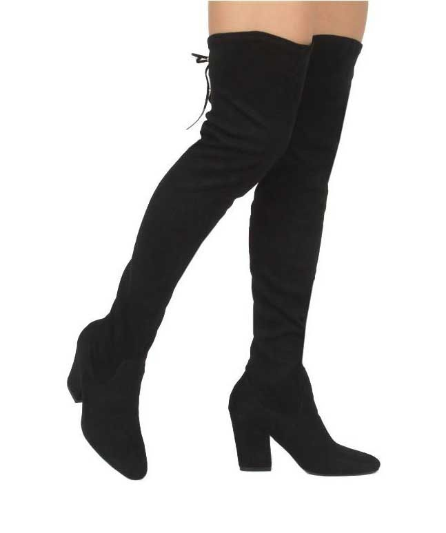 16e5254d975 Qupid Shoes Rima Over the Knee Heeled Boots in Black RIMA-03-BLK ...