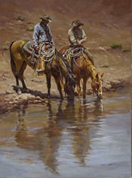 A Cool One by Shawn Cameron Oil ~ 24 x 18