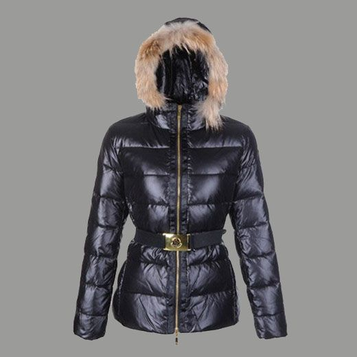 Blouson cuir noir femme en solde