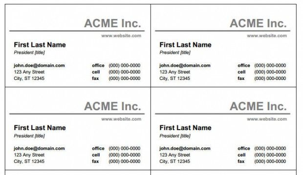 Free Printable Business Card Templates Free Printable Cards