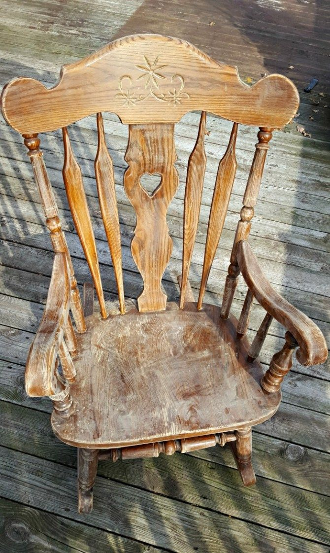 After Sanding Antique Rocking Chairs Rocking Chair