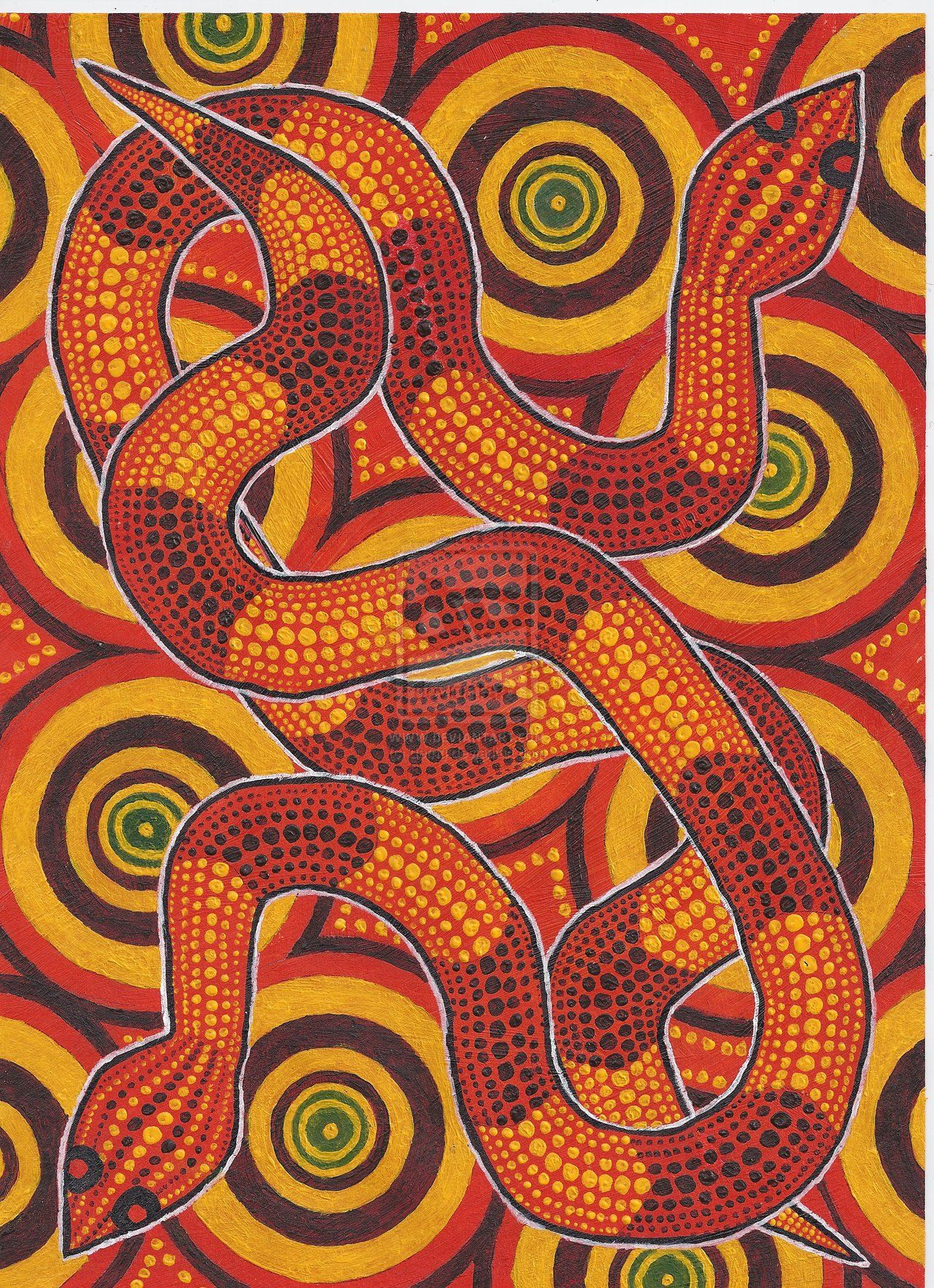 Aboriginal Snakes By Derng Deviantart Com On Deviantart