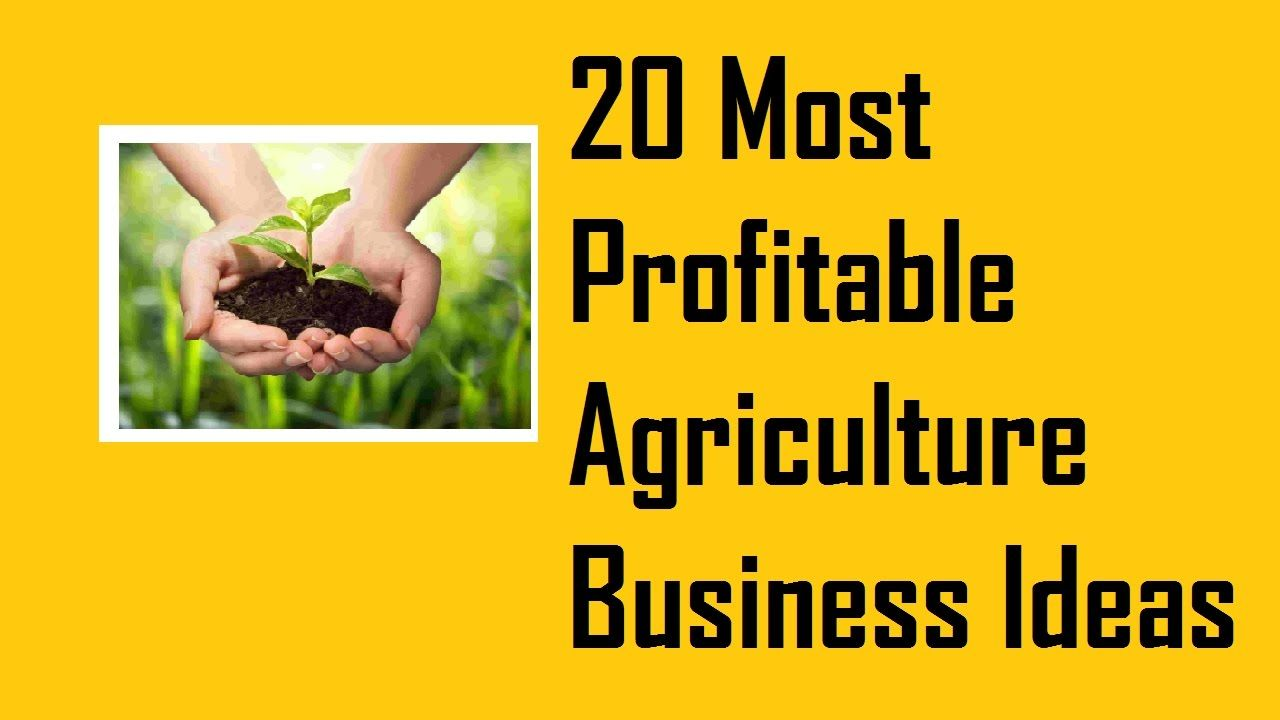 20 Most Profitable Agriculture Business Ideas