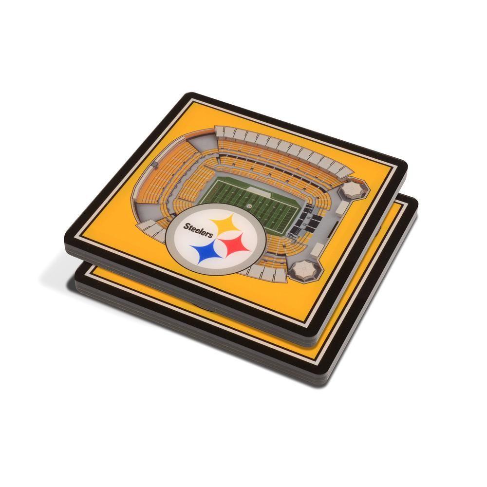 YouTheFan NFL Pittsburgh Steelers 3D StadiumViews Coasters