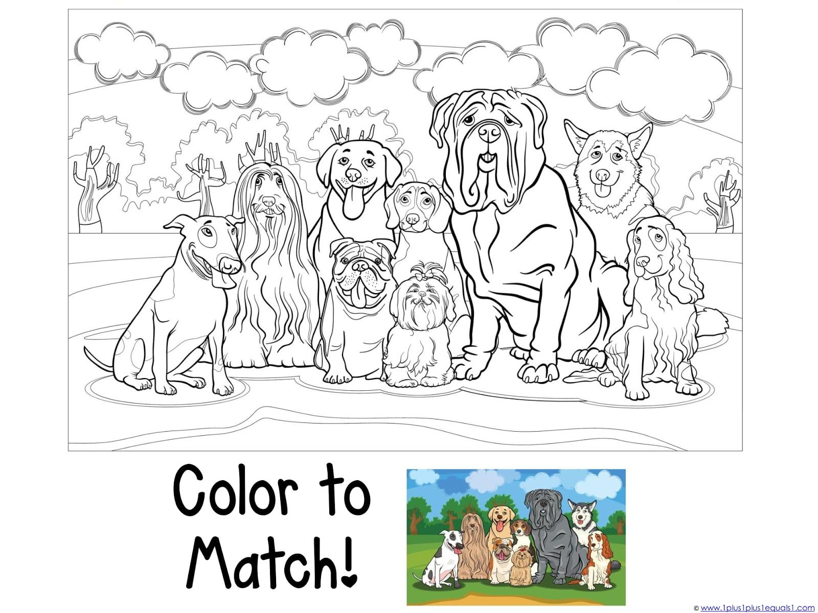 Coloring Pages Dog And Cats For Preschool Click Picture