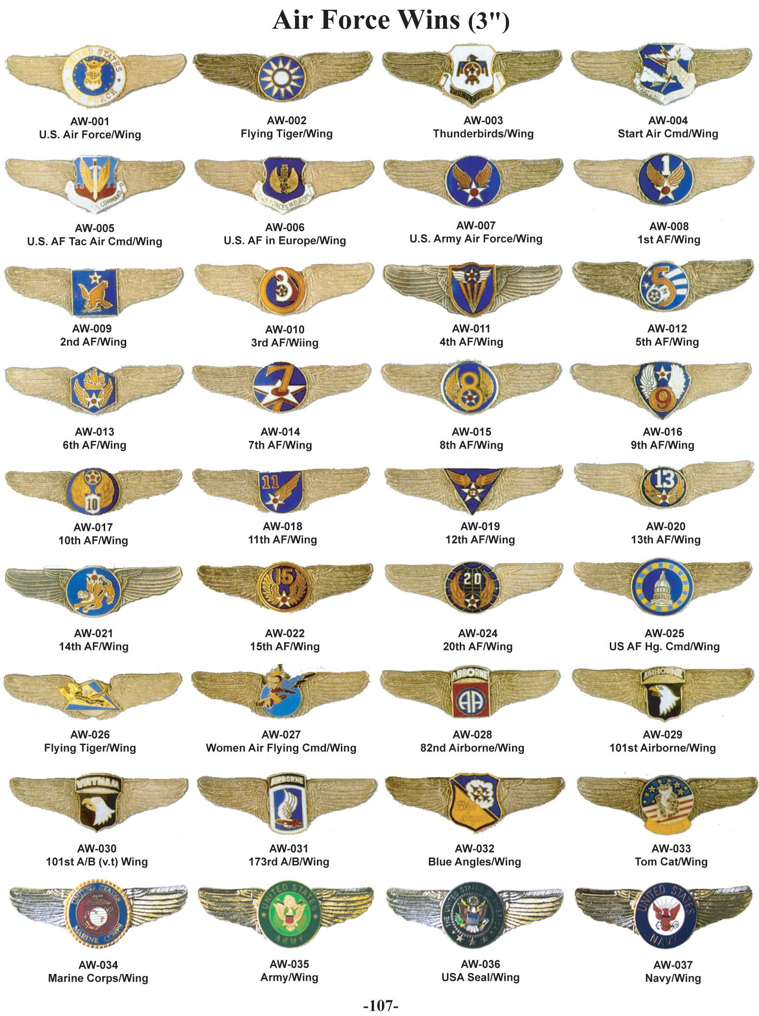 United States Air Force Wings Military insignia