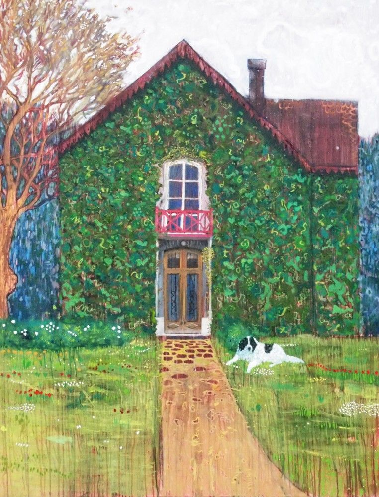 Max Ducos Peintures Peinture Maison Verte Artiste Contemporain