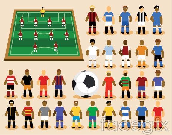 Vector Cartoons Football Match Cartoon Cartoons Vector Vector Illustration Cartoon
