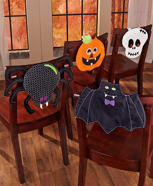 Awe Inspiring Halloween Table Linens Place Mats Chair Cover Runner Bat Caraccident5 Cool Chair Designs And Ideas Caraccident5Info