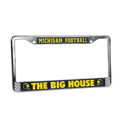 University of Michigan Football \'\'The Bi House\'\' License Plate Frame ...