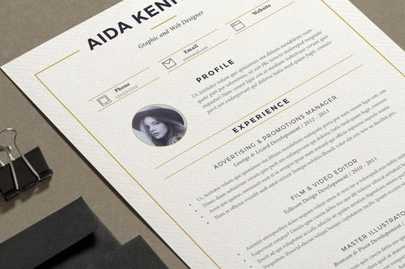 Resume Aida ( 2 pages ) Cv template and Resume cv - resume 2 pages
