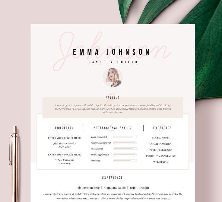 "Resume Template | Resume CV Template | CV design | Curriculum Vitae | CV Instant download Resume | Resume Templates | cv | ""Champs-Élysées"""