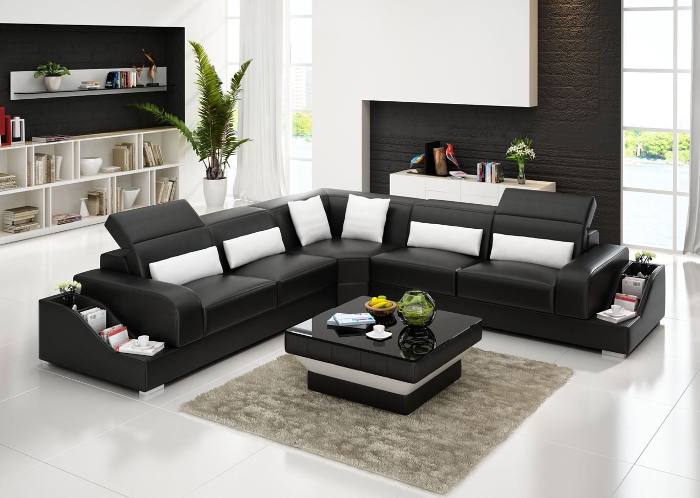 New Design Big Size Living Room Sofa Set With Storage Function