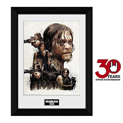 The Walking Dead Daryl Dixon Collage Gerahmtes Bild Standard