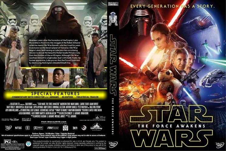 Star Wars The Force Awakens Custom Dvd Cover Custom Dvd Cover Art