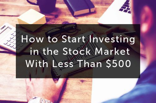 How to Start Investing in the Stock Market with Less Than $500 #stockportfolio