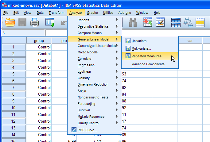 How To Perform A Mixed Anova In Spss Laerd Statistics Spss