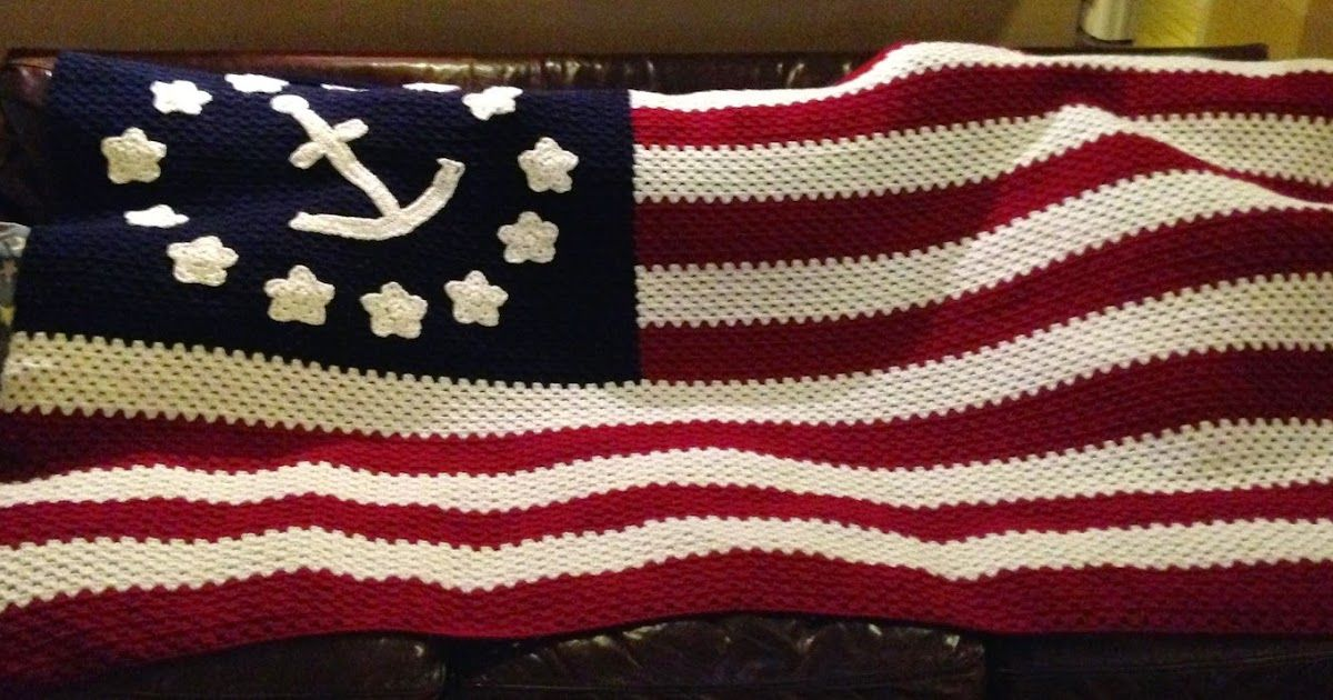 Yes, that\'s right. It\'s a nautical American flag afghan, made for my ...