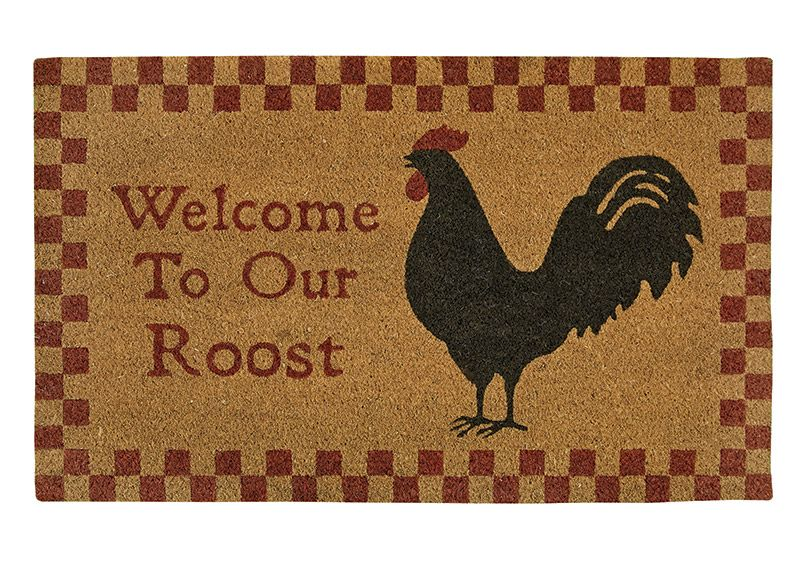 Merveilleux Welcome To Our Nest Rooster Hen Pecked Door Mat