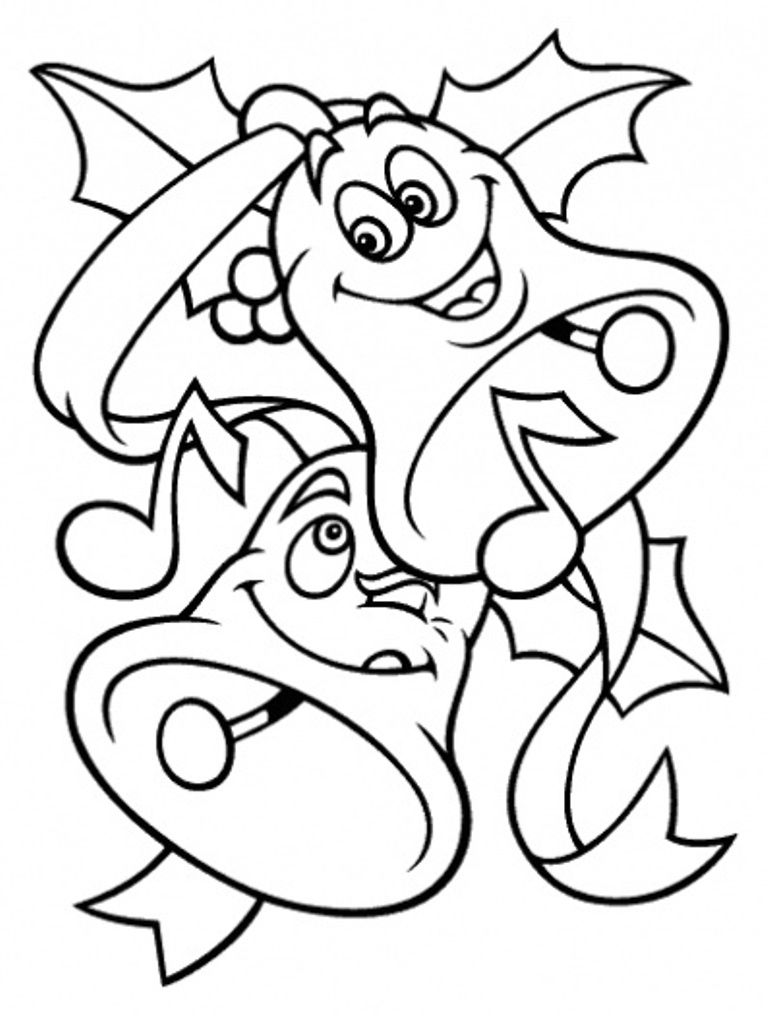 Download Free Coloring Pages For Christmas Bells Kids Or Print