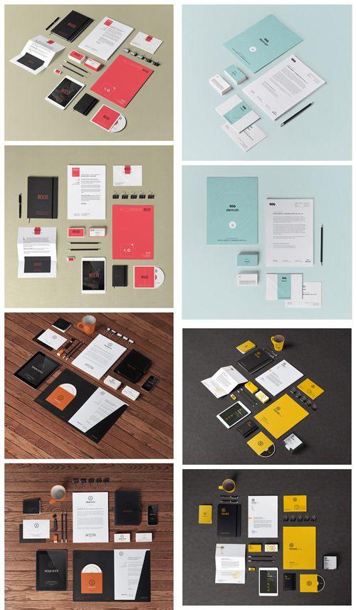 Stationery Branding Mock Up Templates Vol 1 4 Psd Graphic Design Mockup Stationery Branding Mockup Design