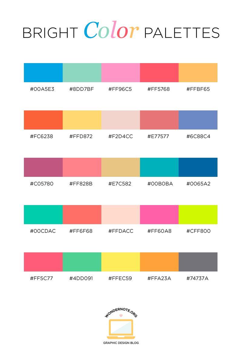 Color Palettes For Web Digital Blog Graphic Design With
