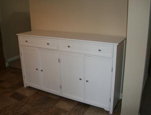 Home Decorators Collection Oxford 2 Drawer Wood Buffet In White