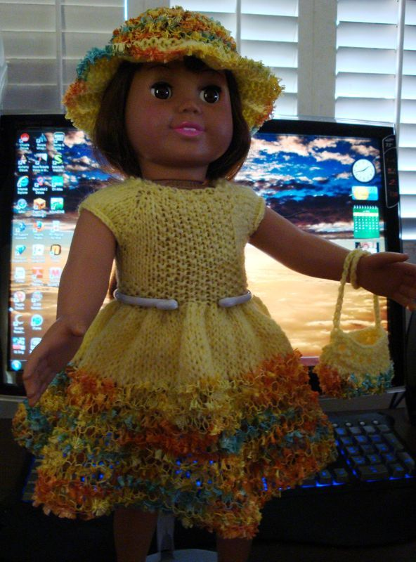Ladyfingers\' pattern for AG: yellow dress on knittingparadise.com ...